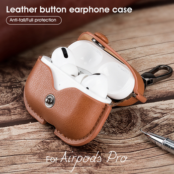For Air pods Pro Airpods Pro Luxury Leather Case Earphone Charging Box Case For Airpods Air pods Pro TWS Bluetooth Earphone Case for apple air pods charging box protective cover luxury crocodile pattern leather bluetooth wireless earphone case for airpods