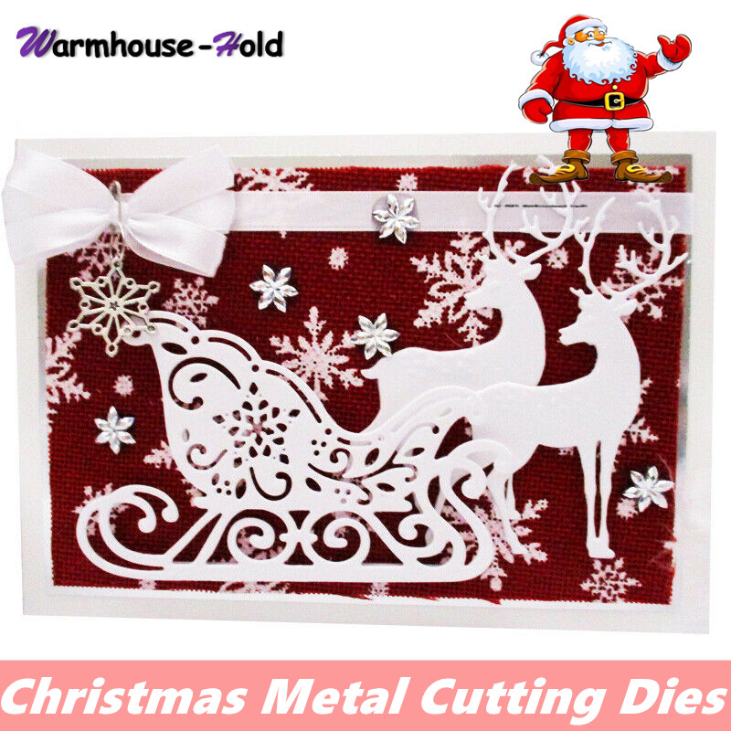 New Christmas Metal Cutting Dies Santa Dies Snowflake Tree Die Cut Scrapbooking For DIY Card Making Craft Paper Card Template|Cutting Dies| - AliExpress