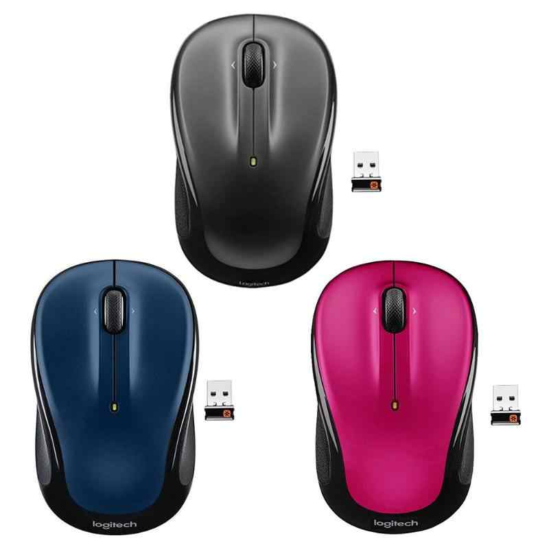 Logitech M325 3 Tombol USB Wireless Mouse 1000 Dpi 2.4GHz Receiver Unifying Ergonomis Optical Mouse