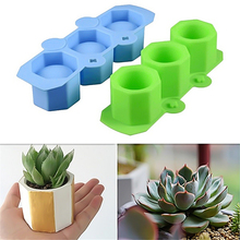 New DIY Cement Pot Making Silicone Molds Hand Made Clay Crafts Making Cement Mold Succulent Plants Concrete Planter Molding Tool modern simple home decorations flower pot silicone cement mold desktop ornament clay molds diy concrete mould