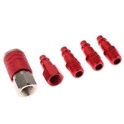5 conjunto vermelho do acoplador da liberação rápida dos pces 1/4