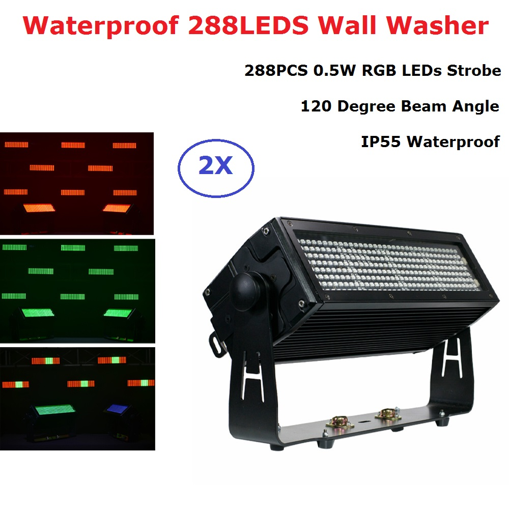 288 LEDS Waterproof Strobe Light RGB 3IN1 Flash Light Stage Party Lighting Effect Outdoor Dj Wash Light For Club Lights Stage Dj