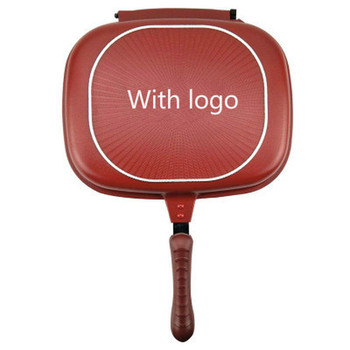 1PC Double-sided grill frying pan square shape non-stick pan baking steak frying pan 28cm kitchen cooking tool air frying pan new special price large capacity intelligent oil smoke free fries machine automatic electric frying pan 220v 3l