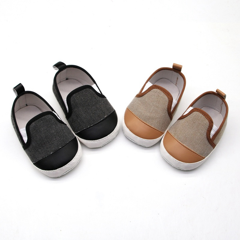 Newborn Baby Boy Shoes First Walkers Spring Autumn Baby Boy Soft Sole Shoes Infant Canvas Crib Shoes 0-18 Months O