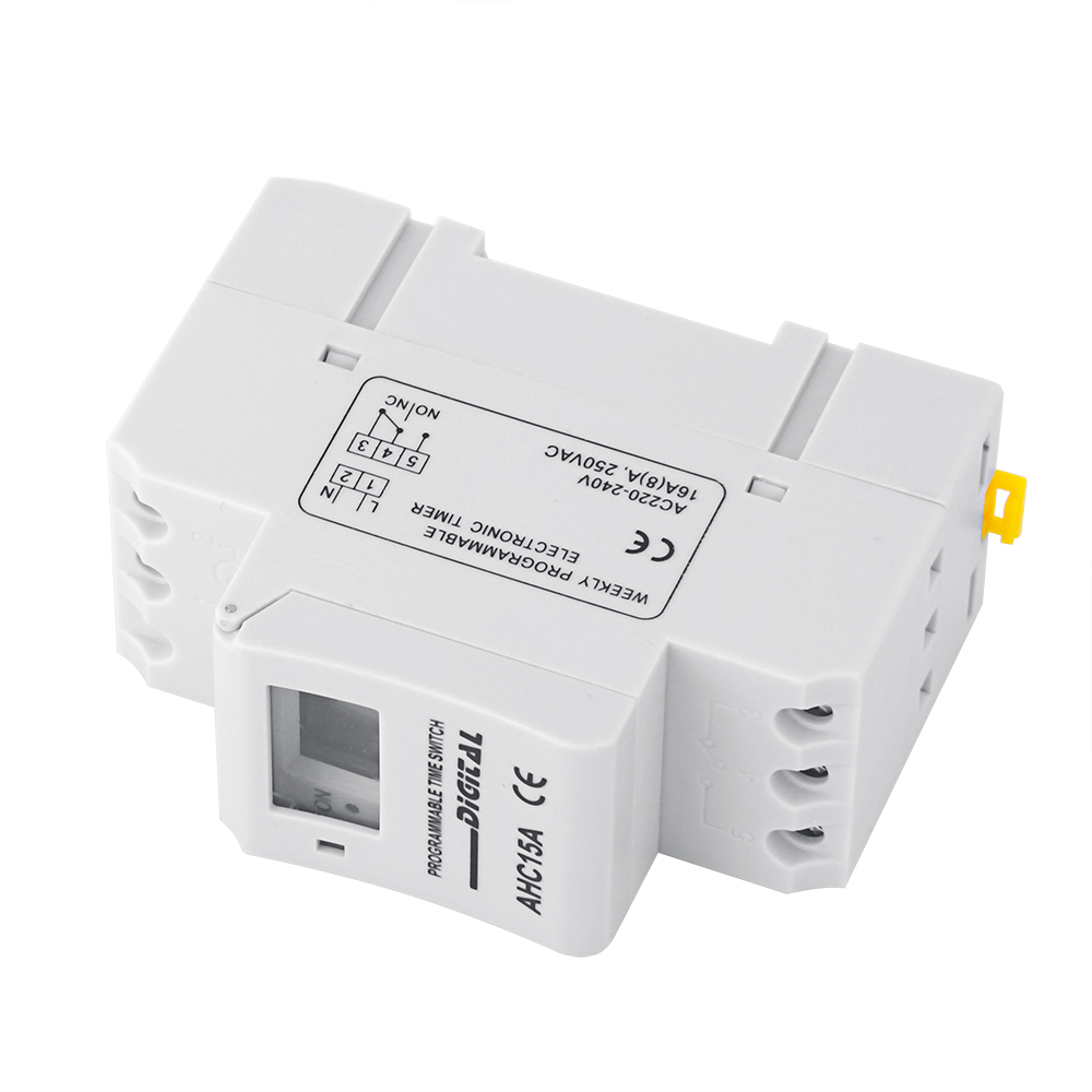 Top SaleÝRelay-Switch THC15A TP8A16 220V RAIL Programmable-Timer LCD Weekly DIN DIGITAL