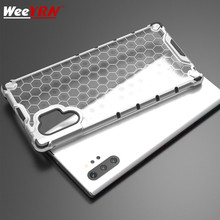 Honeycomb Armor Case Cover For Samsung Galaxy note 10+ Plus Hybrid TPU+PC Clear Shockproof 10