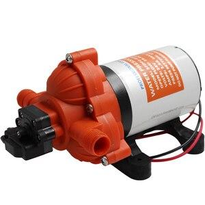 Электрический водяной насос постоянного тока 12 В 24 В, самовсасывающий мембранный Водяной насос высокого давления, автоматический выключат...