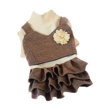 Зимний свитер для Собаки Одежда для маленькой собаки кошка Чихуахуа Йорк одежда для щенков Йоркширский Померанский Пудель юбка костюм