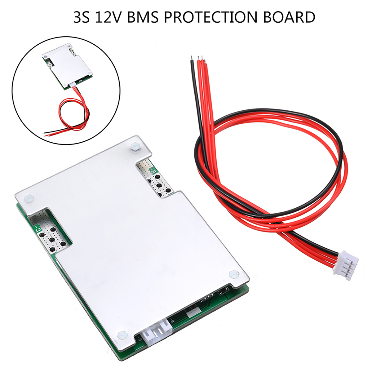 1pc <font><b>3s</b></font>/4s/5s 50A 12V BMS Protection PCB Board For 3 Series Cell Ternary Li-ion Lithium 18650 <font><b>Battery</b></font> <font><b>Packs</b></font> Accessories image