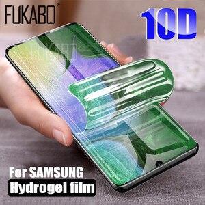 Image 1 - 10D Bảo Vệ Màn Hình Trong Cho Samsung Galaxy A51 A50 A70 A71 Note 20 10 Lite 9 8 S20 Cực Hydrogel Cho M31 s10e S8 S9 Plus Bộ Phim Không Kính