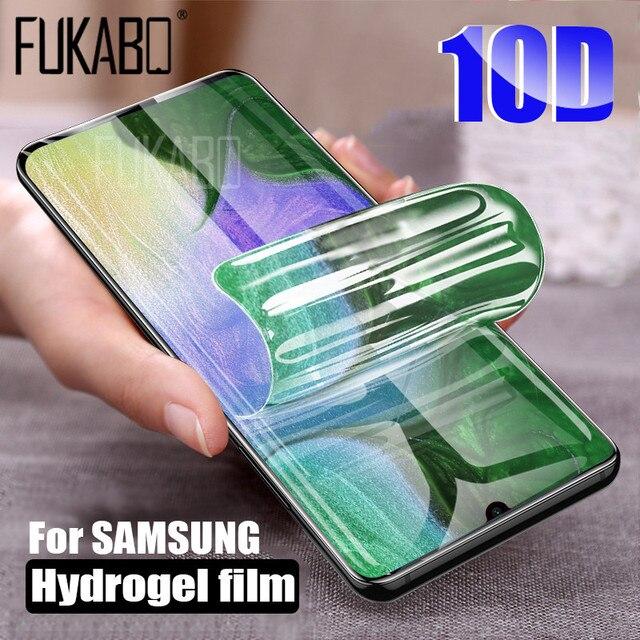 10D Bảo Vệ Màn Hình Trong Cho Samsung Galaxy A51 A50 A70 A71 Note 20 10 Lite 9 8 S20 Cực Hydrogel Cho M31 s10e S8 S9 Plus Bộ Phim Không Kính