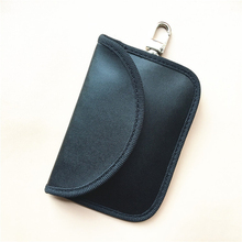 Leather Mini Car Smart Key Protector Signal Blocker Case Pouch Waterproof Portable Bag Styling accessories