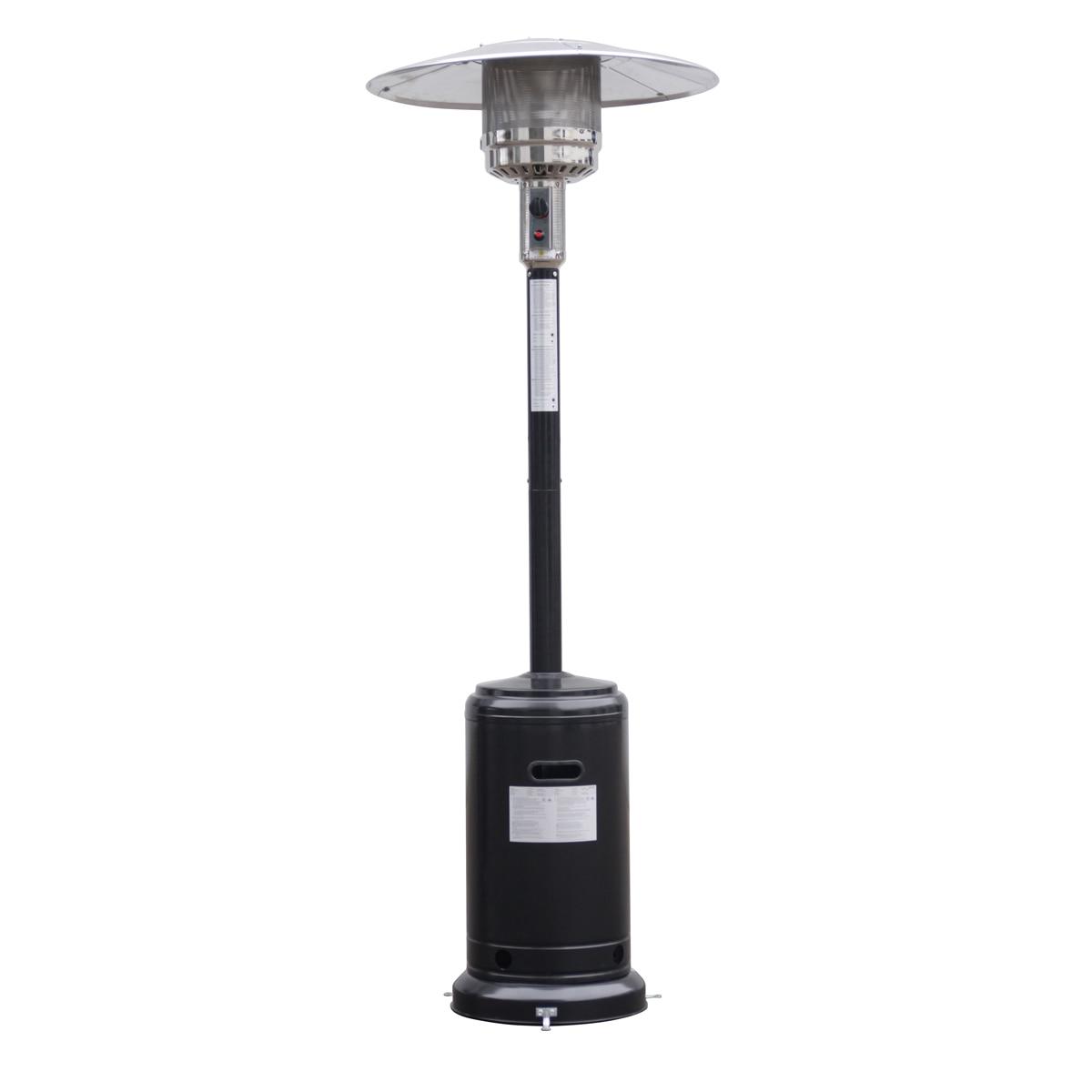 Costway Steel Outdoor Patio Heater Propane Lp Gas W/accessories (Black)
