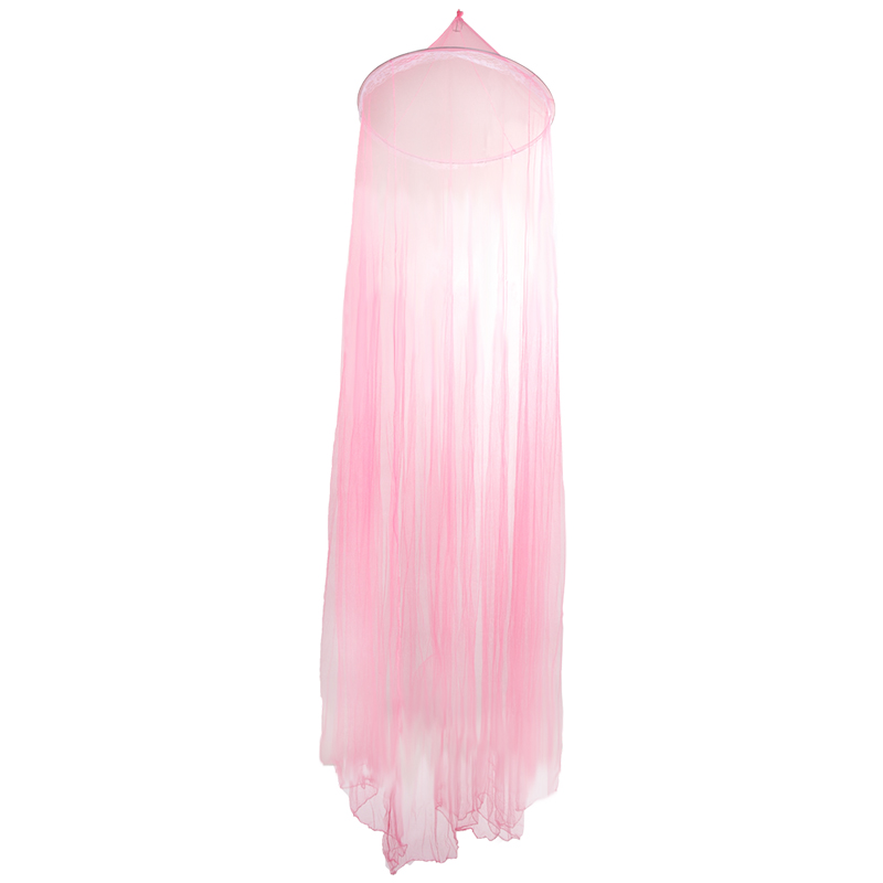 Round Mosquito net with Lace - Pink