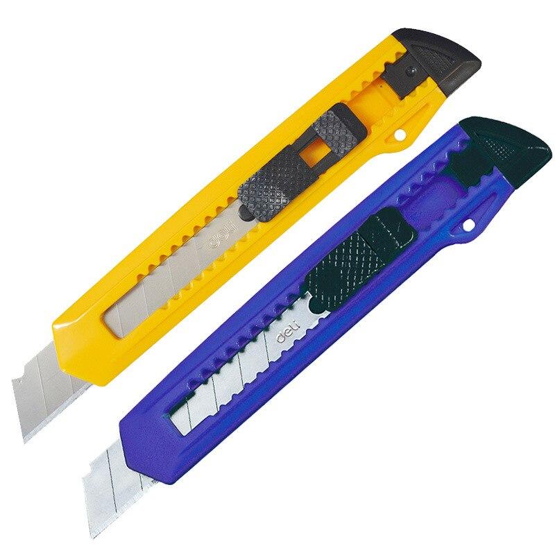 Deli 2001 Large Size Utility Knife Paper Cutter Sharp Safe Tailor Knife Office Stationery