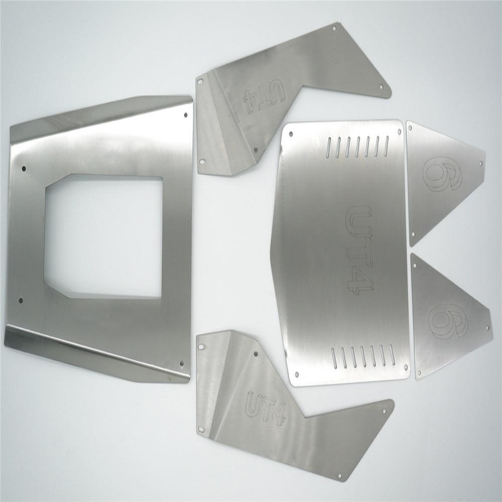6pcs/set Stainless Steel Car Body Armor Side Panel Hood Cover for CROSSRC UT4 1/7 RockCrawler RC Car Modification Kits