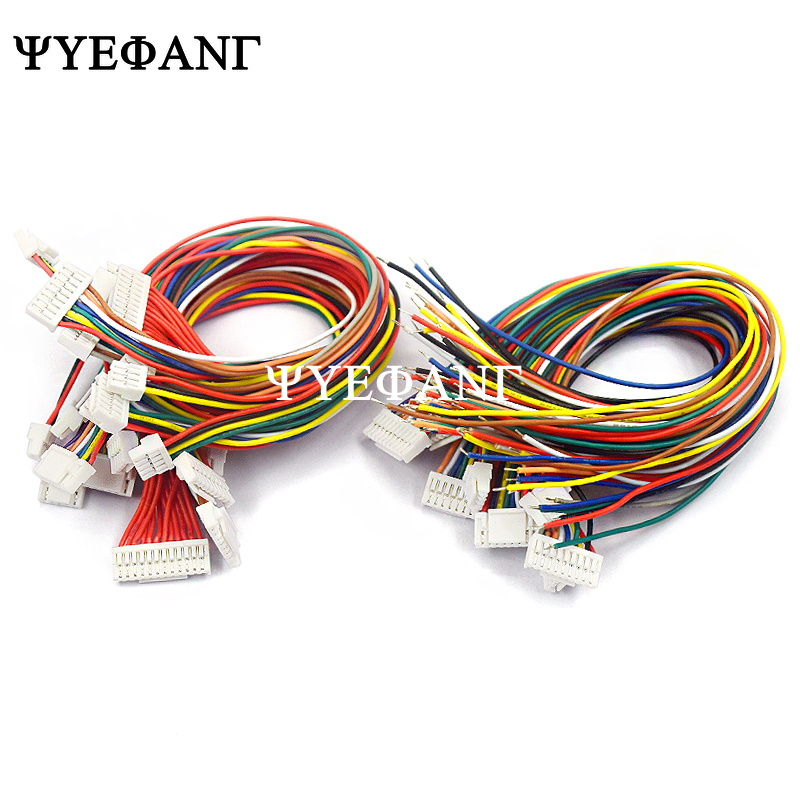 5PCS GH1.25 Single / Double Head 2P/3P/4P/5P/6 Pin JST GH Series 1.25 Connector With Wire 150MM 1007 28AWG 1.25MM