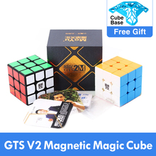 En iyi MoYu Weilong GTS V2 M manyetik 3x3x3 GTS2M sihirli küp profesyonel WCA GTS2 M 3x3 küp hızlı magico cubo eğitici oyuncak