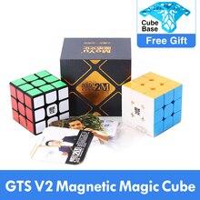최고의 MoYu Weilong GTS V2 M 자기 3x3x3 GTS2M 매직 큐브 전문 WCA GTS2 M 3x3 Cubing 속도 magico cubo 교육 장난감