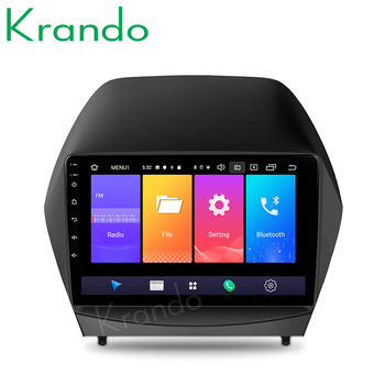 Krando Android 9.0 9 IPS Big screen car multimedia system for HYUNDAI TUCSON IX35/TUCSON IX 2009-2014 navigtaion GPS wifi BT image