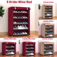 Dustproof Large Size Non Woven Fabric Shoes Rack Shoes Organizer Home Bedroom Dormitory Shoe Racks Shelf Cabinet 4/5/6 Layers|Shoe Racks & Organizers| |  -