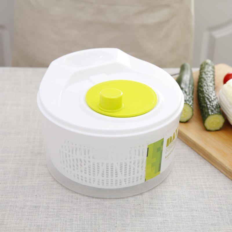 Salad Spinner Ingredients Dryer Vegetables Fruit Removable Drain Basket Dehydrator Kitchen Tools 85DA
