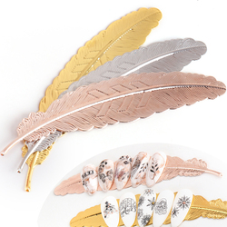 3pc Nail Tips Holder Feather Palette For Nails Practice Training Display Stand Gel Polish Organizer Manicure Showing Tool TR1844