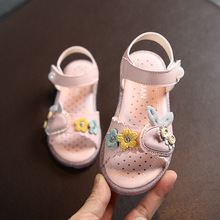 Lovely Sandals For Girls Kids Shoes 2020 Fashion Soft Leathers Baby Sandals Girls Children Beach Shoes Princess Girls Shoes cheap opoee Rubber Flat Heels Hook Loop Fits true to size take your normal size Cotton Fabric Bowtie Ankle-Wrap Unisex Flat with