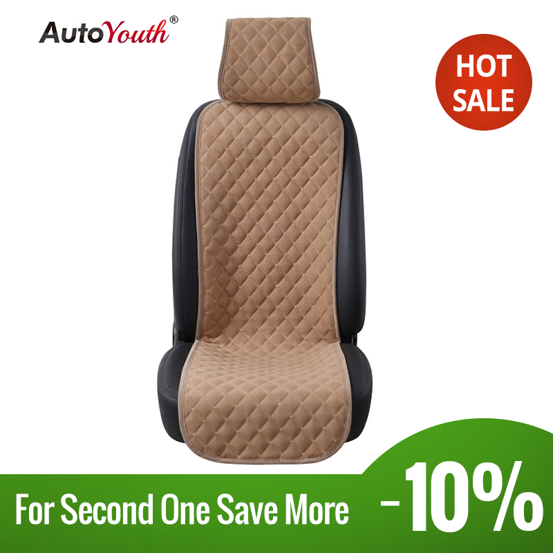 AUTOYOUTH 1PCS Car Seat Cover Nano Cotton Velvet Cloth Universal Seat Cushion Protector 4 Colored Car-Styling Interior Accessori