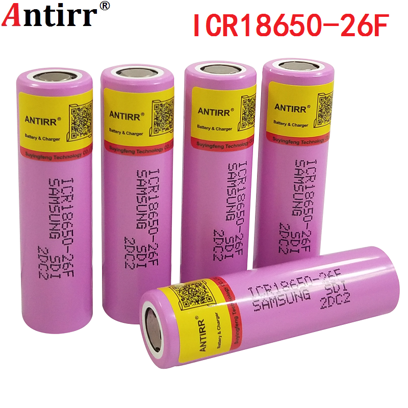 100% Original 3.7V 2600mAh For Samsung 26F Rechargeable 18650 Li-ion Battery Real Capacity ICR18650 Batteries free shipping image