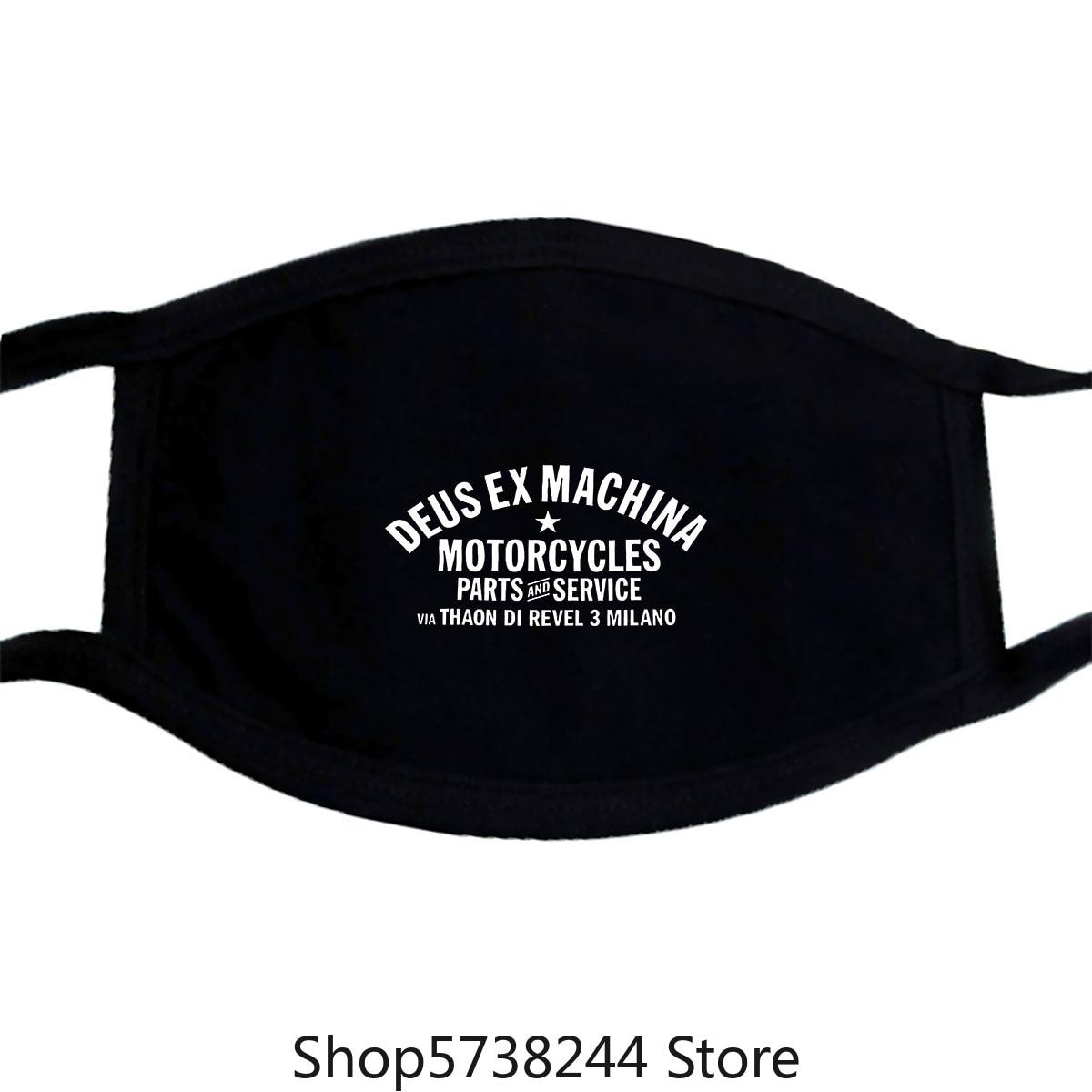Deus Ex Machina Mask White Size S 3Xl Washable Reusable Mask For Unisex Black