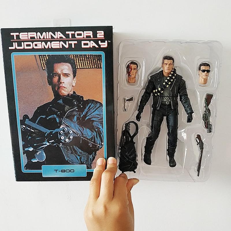 Arnold Schwarzenegger The Terminator T800 Action Figure Model Toy 18cm Doll NECA