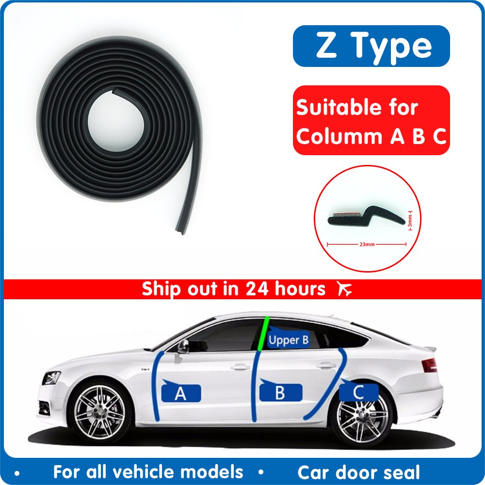 4 Meters Z type automobile sealant sealing strip sound insulation insulation sealing strip high quality automobile sealing tape