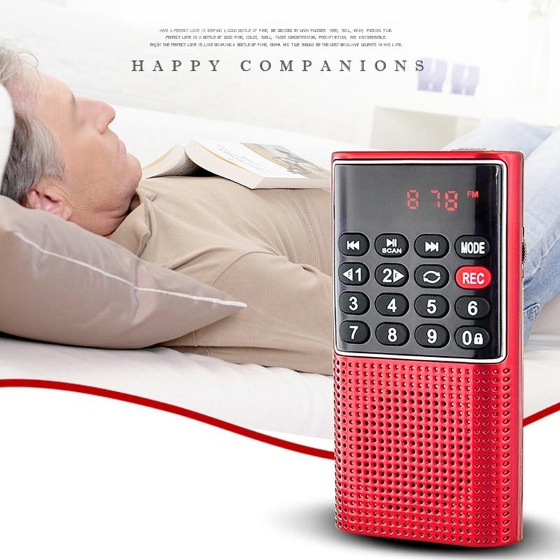 L-328 Mini Portable Pocket FM Auto Scan Radio Music Audio MP3 Player Outdoor Small Speaker with Voice Recorder