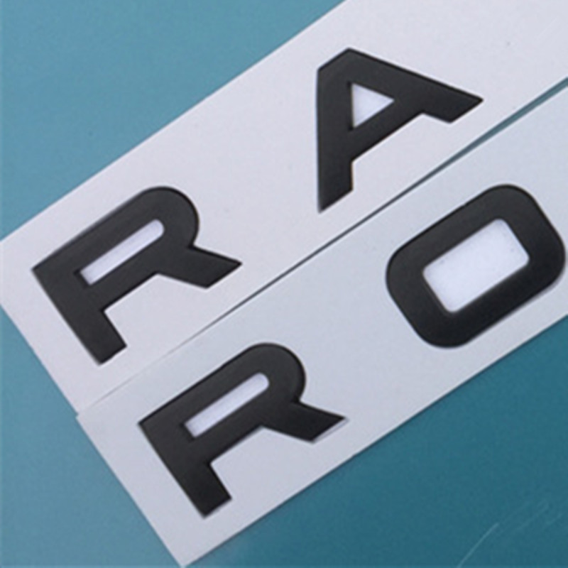 5 pcs letras emblema para land range rover velar sv autobiografia final esporte estilo do carro