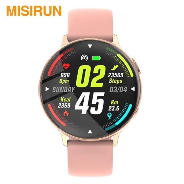 MISIRUN C6 Đồng Hồ Thông Minh Dành Cho Nữ Gọi Cảm Ứng Đầy Đủ IP68 Chống Nước Nhịp Tim Thời Trang Thể Thao Nam Đồng Hồ Thông Minh Smartwatch Cho IOS Android