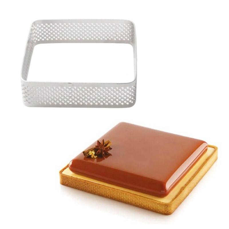 Квадратная форма для торта из нержавеющей стали печенье с жидкой помадкой в центре мусс кольцо для выпечки и тортов плесень аксессуары для выпечки инструменты для украшения торта