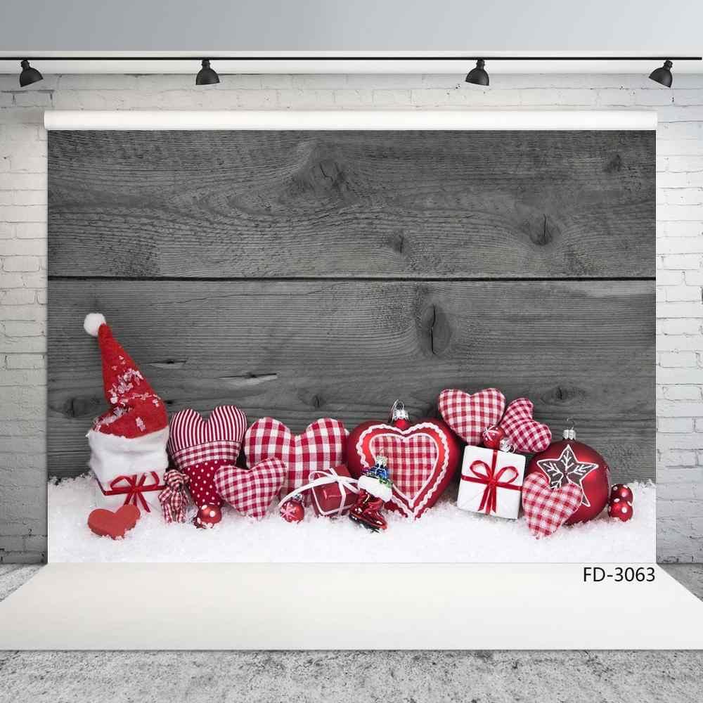 Decoración de Navidad de madera junta de fotografía de vinilo Fondo decoración niños bebé recién nacido fiesta telón de fondo para estudio de fotografía Accesorios