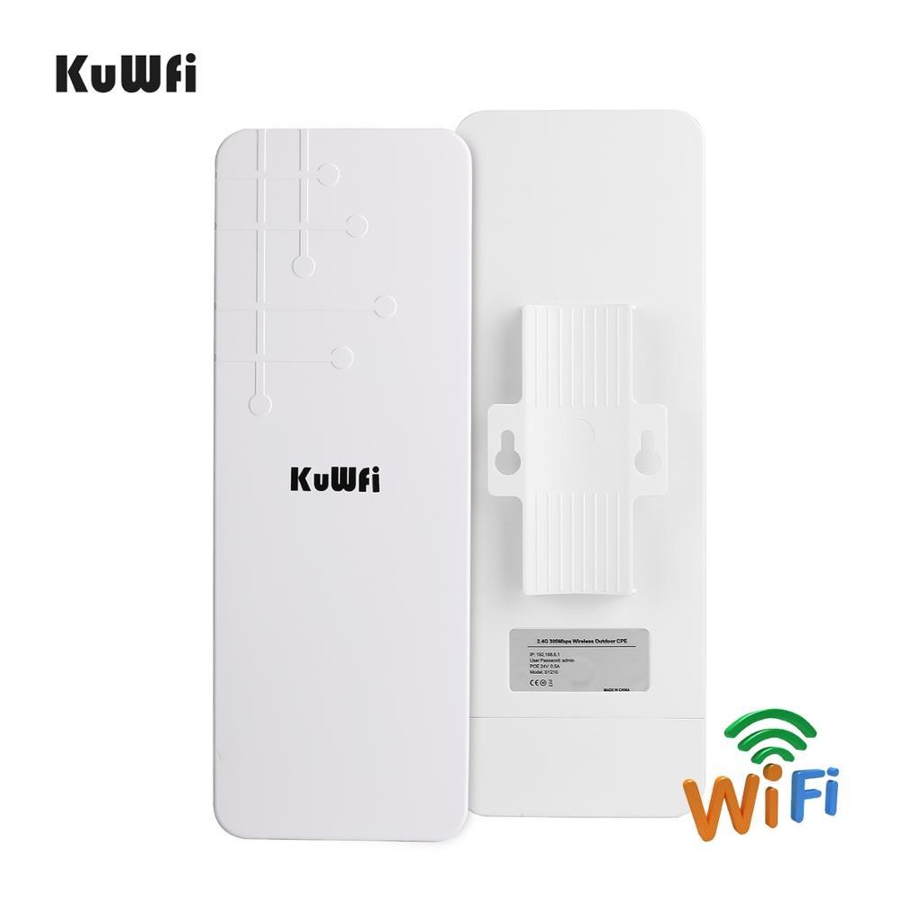 Image 2 - KuWFi Открытый CPE маршрутизатор Wifi расширитель Qualcomm 9531 скорость до 300 Мбит/с беспроводной CPE стабилизированный корпус с IP65 водонепроницаемый-in Беспроводные маршрутизаторы from Компьютер и офис