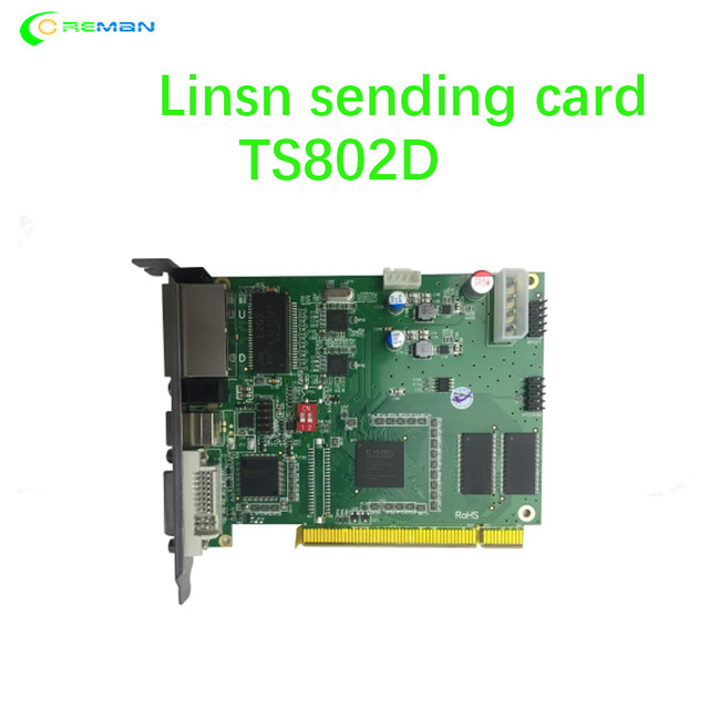 New design controlling system card EMC controller card LINSN RV908 / RV901 hub75 full color led display DOOH P2 P3 P4 P5