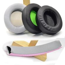Rotondo Ovale di Ricambio di Raffreddamento Gel Cuscinetti Auricolari In Schiuma Pad Cuscini Per Razer Kraken 7.1 Chroma V2 USB Gaming Pro v2 Cuffia