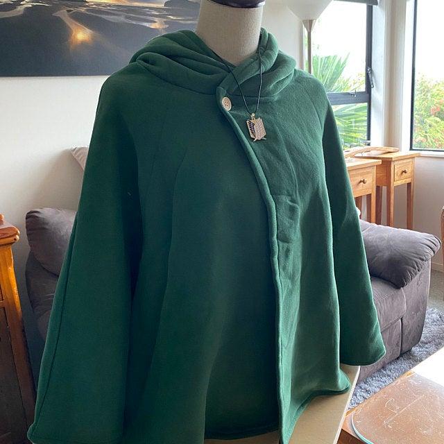 Green Kids Attack on Titan Scouting Legion Cape Clock Cosplay Costume CS