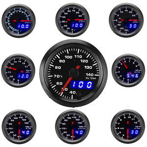 "Image 1 - 2"" 52mm Car Gauge LED Dual Display Boost Tachometer Water Temp Oil Exhaust Temp Oil Pressure Volt Air Fuel Ratio  Gauge 7 Colors"