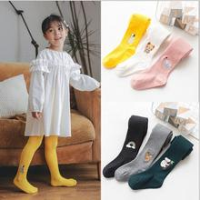 Girls Leggings Pantyhose Children's Thin Autumn And Cartoon Spring Embroidery Breathable