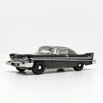 Luz verde 1 64 1957 Plymouth Fury negro sin caja