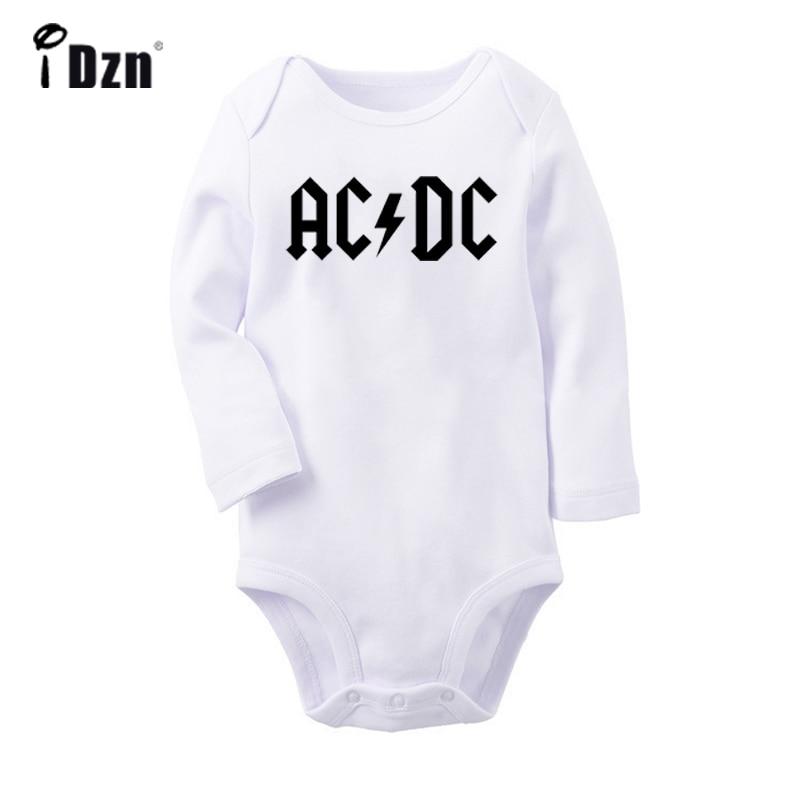 U2 Alternative Rock Band ACDC Armin Van Buuren DJ Fans Newborn Baby Bodysuit Toddler Onesies Long Sleeve Jumpsuit Cotton Clothes