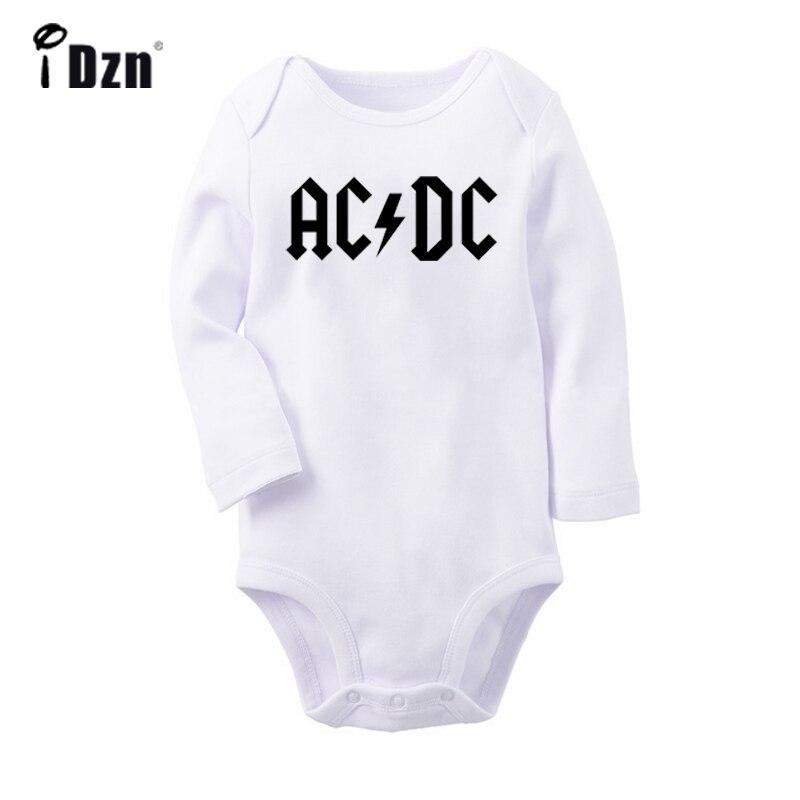 U2 alternative rock band acdc armin van buuren fãs dj recém-nascido bebê bodysuit da criança onesies manga longa macacão roupas de algodão