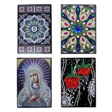 50 страниц алмазная живопись блокнот DIY Роза Мандала специальная форма алмазная вышивка крестиком A5 блокнот дневник Книга