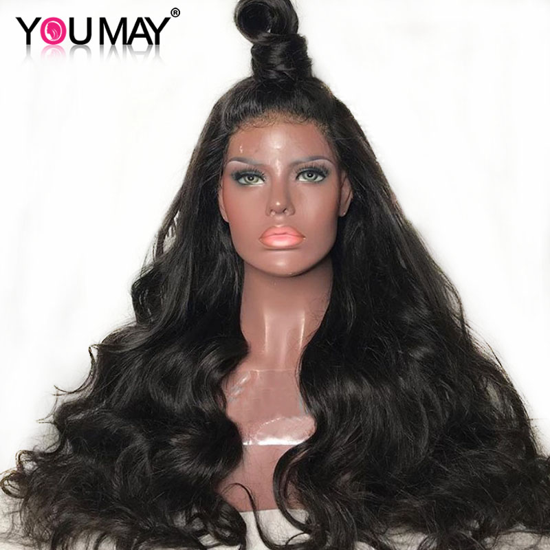 Full Lace Human Hair Wigs Glueless Full Lace Wig Pre Plucked With Baby Hair Brazilian Body Wave 150 180 250 Density Remy You May