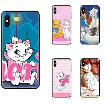 Soft Silicone TPU Black Skin Painting Cover Case The Cartoon Aristocats For Redmi Note 4 5 5A 6 7 8 8T 9 9S Pro Max image